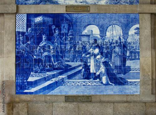 Canvas Prints Artistic monument traditional ceramic tiles of Porto, Portugal