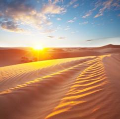 Panel Szklany Podświetlane Wschód / zachód słońca Desert