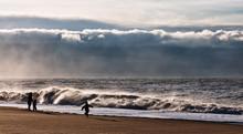 Emerging Storm At Bovbjerg Beach, Denmark