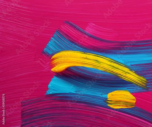 Photo Bright colors paint strokes art