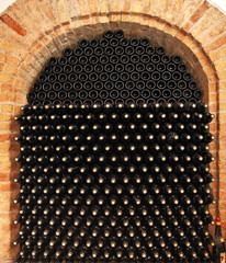 FototapetaBottles of wine in cellar.