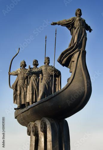 Foto op Plexiglas Kiev The monument of founders of Kiev city