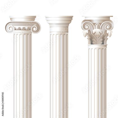 Fotografie, Obraz  3 columns in different styles