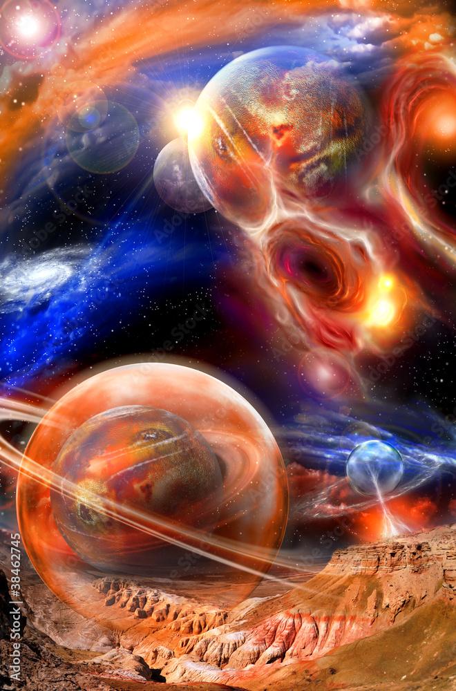 Fototapety, obrazy: Krajobraz kosmiczny