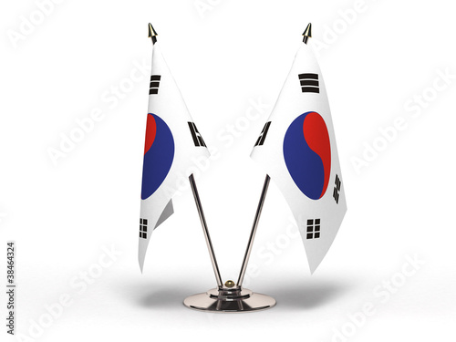 Fotografía  Miniature Flag of  South Korea
