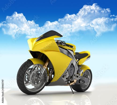 Poster Motocyclette SuperBike concept render
