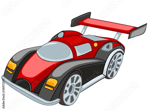 Foto op Canvas Cars Cartoon Car