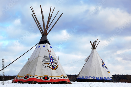 Poster Indiens Classic native Indian tee-pee