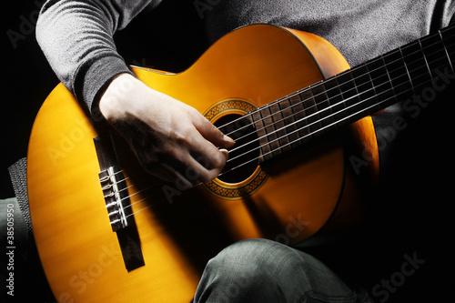 Papiers peints Musique Acoustic guitar player guitarist.