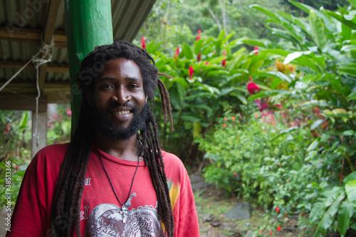 Photo  Rastaman von der Insel Dominica in der Karibik