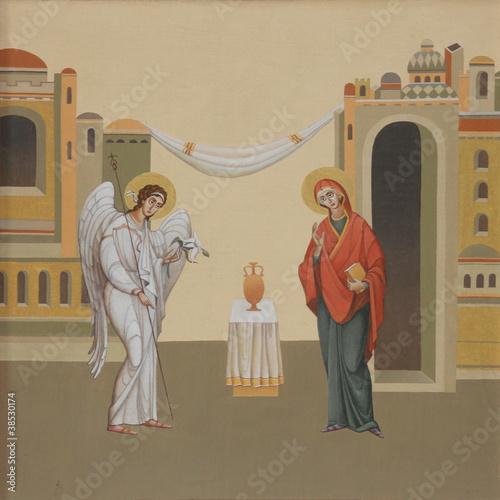 Obraz na płótnie The Annunciation. Ukraine, Lviv. Artist Jaroslav Protsiv