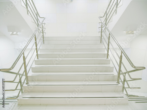 Photo Stands Stairs Staircase in modern building