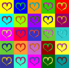 FototapetaWarhol hearts