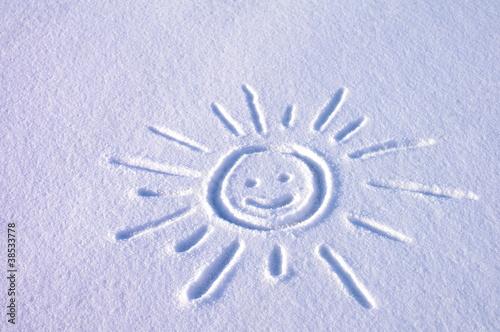 Fototapeta Rysunek śnieg obraz