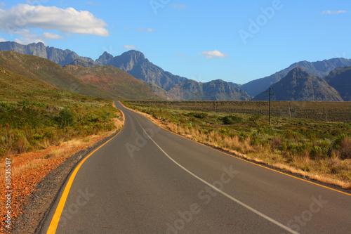 Foto op Plexiglas Zuid Afrika Scenic road, Western Cape, South Africa