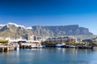 canvas print picture cape town v&a waterfront and table mountain