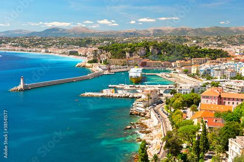 Fotobehang Nice View of Nice, mediterranean resort