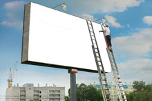 White Billboard And The Worker