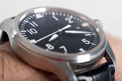 Fotografie, Obraz  Aviator classic wrist watch.