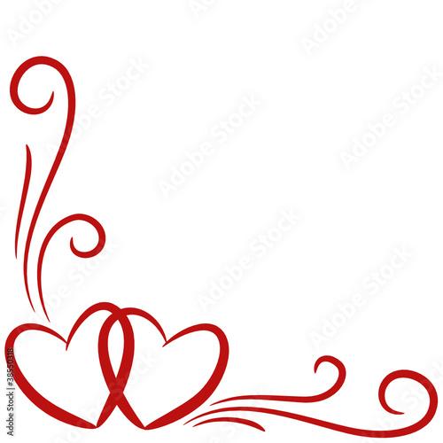 Herzen, Hintergrund, Karte, geschwungene Linien 1 – kaufen Sie diese ...