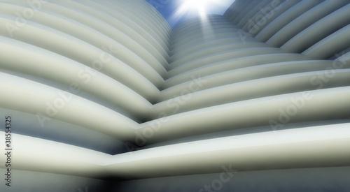 In de dag Macrofotografie 3d modern architecture outdoor