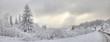 Piękna zima w polskich górach Beskidach