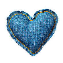 Valentine Jeans Heart. Isolate...