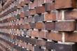 Kunstvoll gemauerte Hauswand