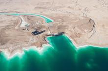 Birdseye View Of The Waterworks On Dead Sea, Israel