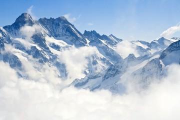 Jungfraujoch Alps mountain landscape
