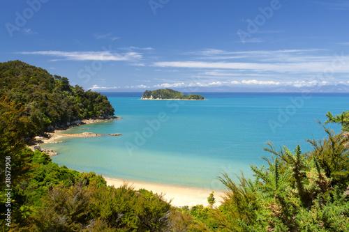 Deurstickers Nieuw Zeeland New Zealand Landscape. Abel Tasman National Park.