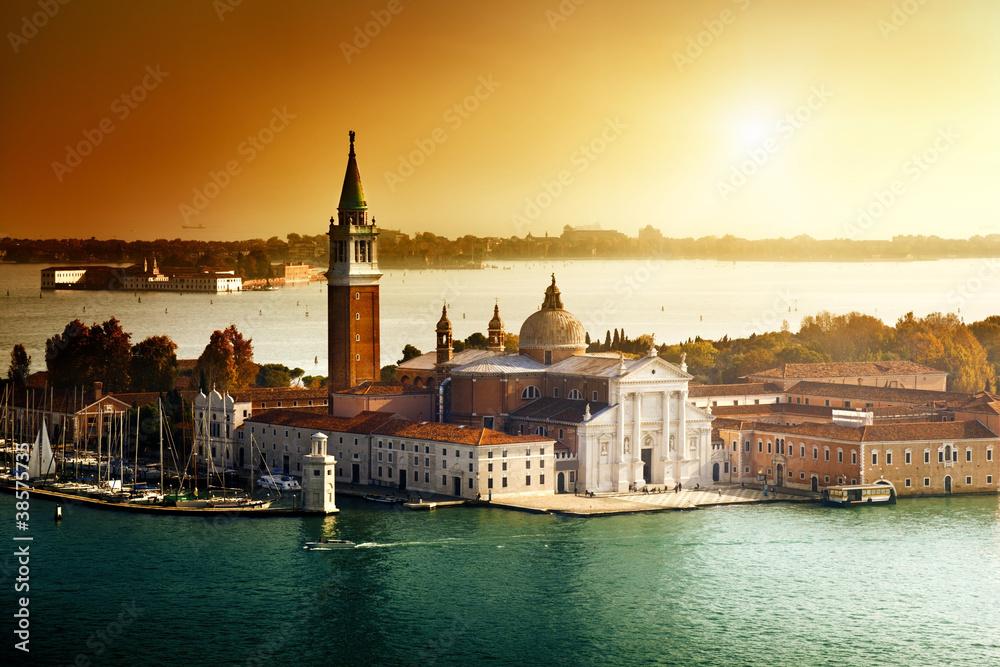 Fototapety, obrazy: Widok na wyspę San Giorgio, Wenecja, Włochy