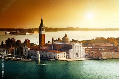 Obraz Widok na wyspę San Giorgio, Wenecja, Włochy - fototapety do salonu