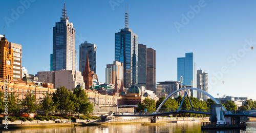 Melbourne skyline looking towards flinders station