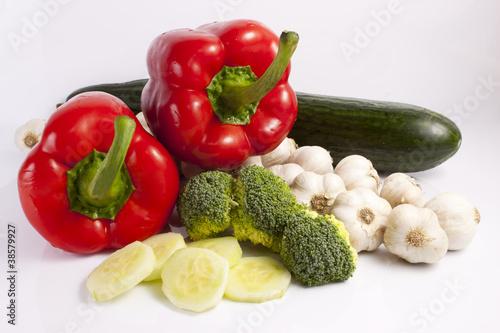 Printed kitchen splashbacks Fresh vegetables Warzywa