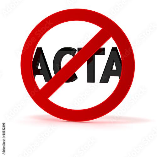 Fotografie, Obraz  ACTA Kritik und Protest SYMBOL