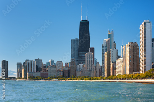 Foto op Plexiglas Chicago View of Chicago and Michigan lake