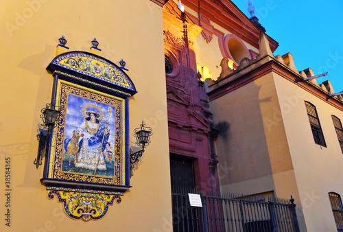 Fotografie, Obraz  Retablo religioso, Triana, Sevilla
