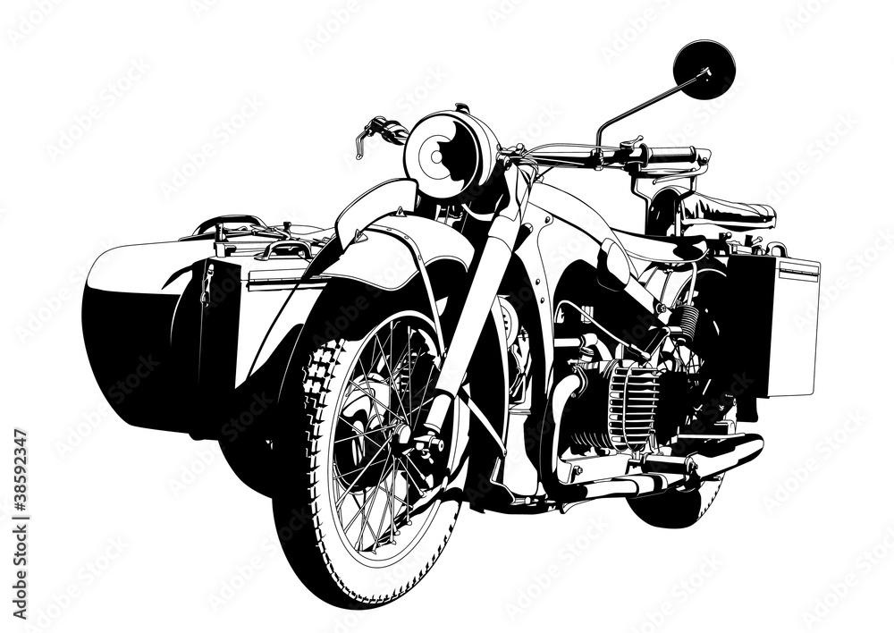 Fototapeta motorbike sidecar