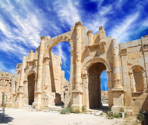Fotografia Ancient Jerash ruins,(the Roman ancient city of Geraza), Jordan