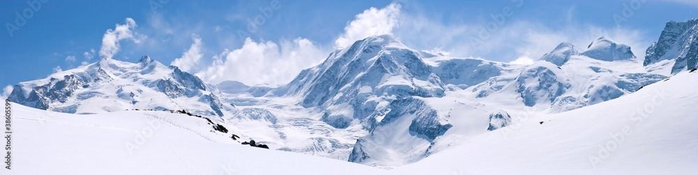 Fototapeta Swiss Alps Mountain Range Landscape