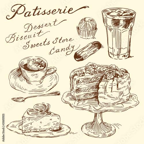ciasto-herbatniki-kawa-recznie-rysowane-elementy