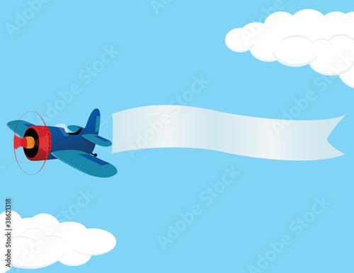 Papiers peints Avion, ballon plane_banner