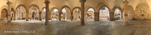Fotografie, Obraz  Bergamo, la Loggia a 360 gradi