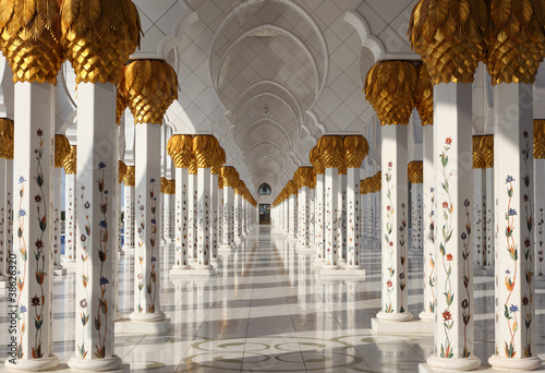 Poster Moyen-Orient Sheikh Zayed Grand Mosque in Abu Dhabi, UAE