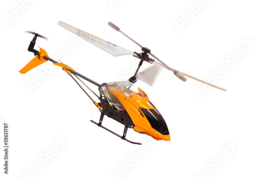 Poster Helicopter Flying RC helicopter