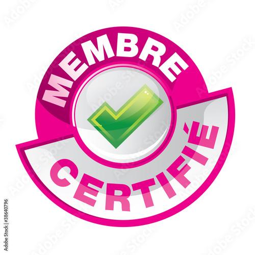 Fotografia  bouton : membre certifié