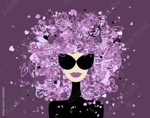 Tuinposter Vrouw gezicht Fashion woman portrait for your design