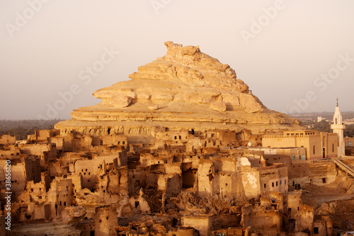 Tuinposter Egypte Fortress of Shali (Schali ) the old Town of Siwa