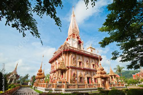 Fotografie, Obraz  Pagoda in wat Chalong, Phuket, Thailand